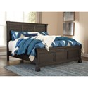 Signature Design by Ashley Tyler Creek King Louvered Headboard Panel Bed