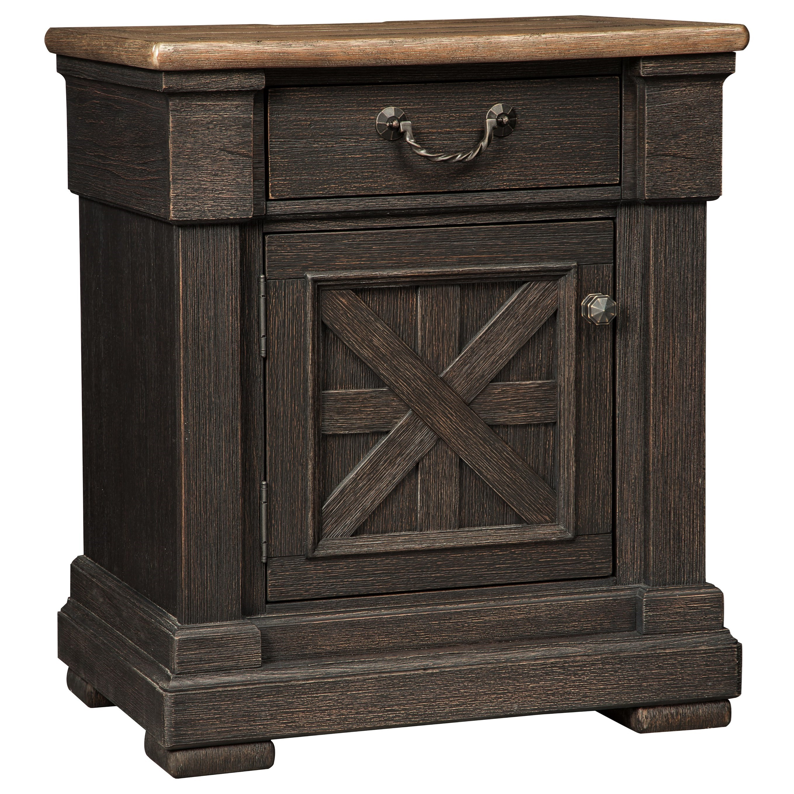 Signature Design by Ashley Tyler Creek One Drawer Night Stand - Item Number: B736-91