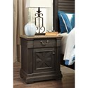 Signature Design by Ashley Tyler Creek One Drawer Night Stand with Built-In Outlets & USB Chargers