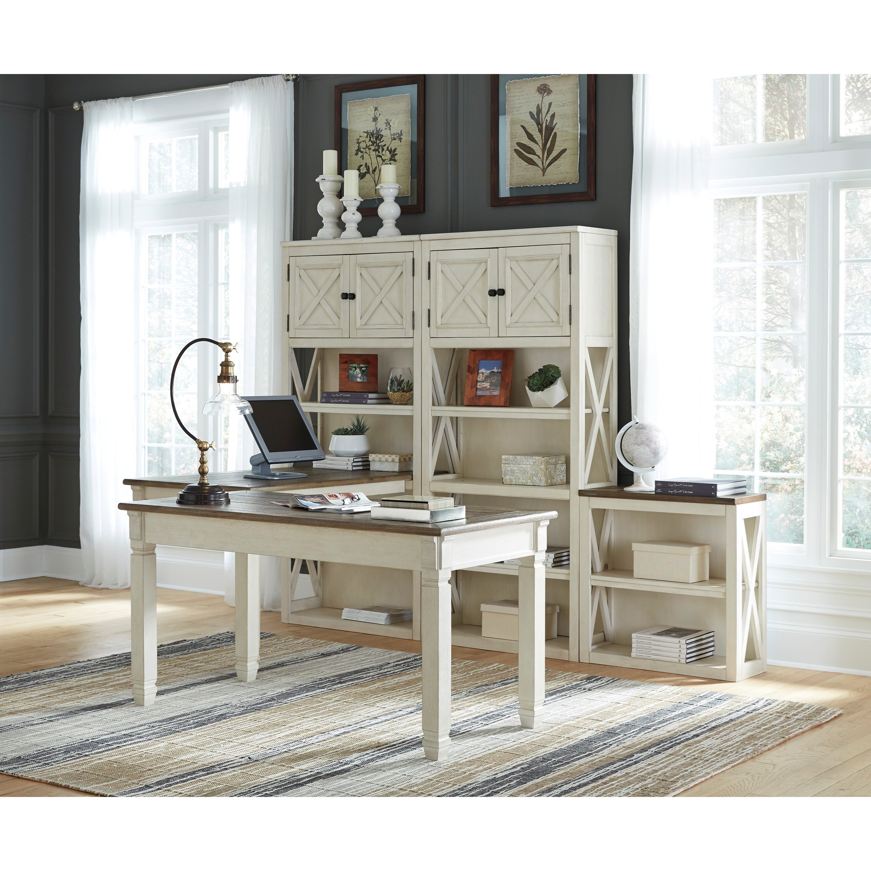 Signature Design By Ashley Bolanburg Two-Tone Home Office