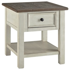 Signature Design by Ashley Bolanburg Rectangular End Table