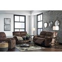 Ashley (Signature Design) Bolzano Reclining Living Room Group - Item Number: 93802 Living Room Group 2