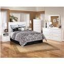 Signature Design by Ashley Bostwick Shoals Queen Headboard, Dresser, & Mirror - Item Number: 5339700