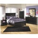 Signature Design by Ashley Maribel Queen Panel Headboard, Dresser, Mirror, 2 Ni - Item Number: 568313882