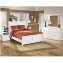 Signature Design by Ashley Bostwick Shoals King Panel Headboard, Dresser, Mirror and N - Item Number: 566313993