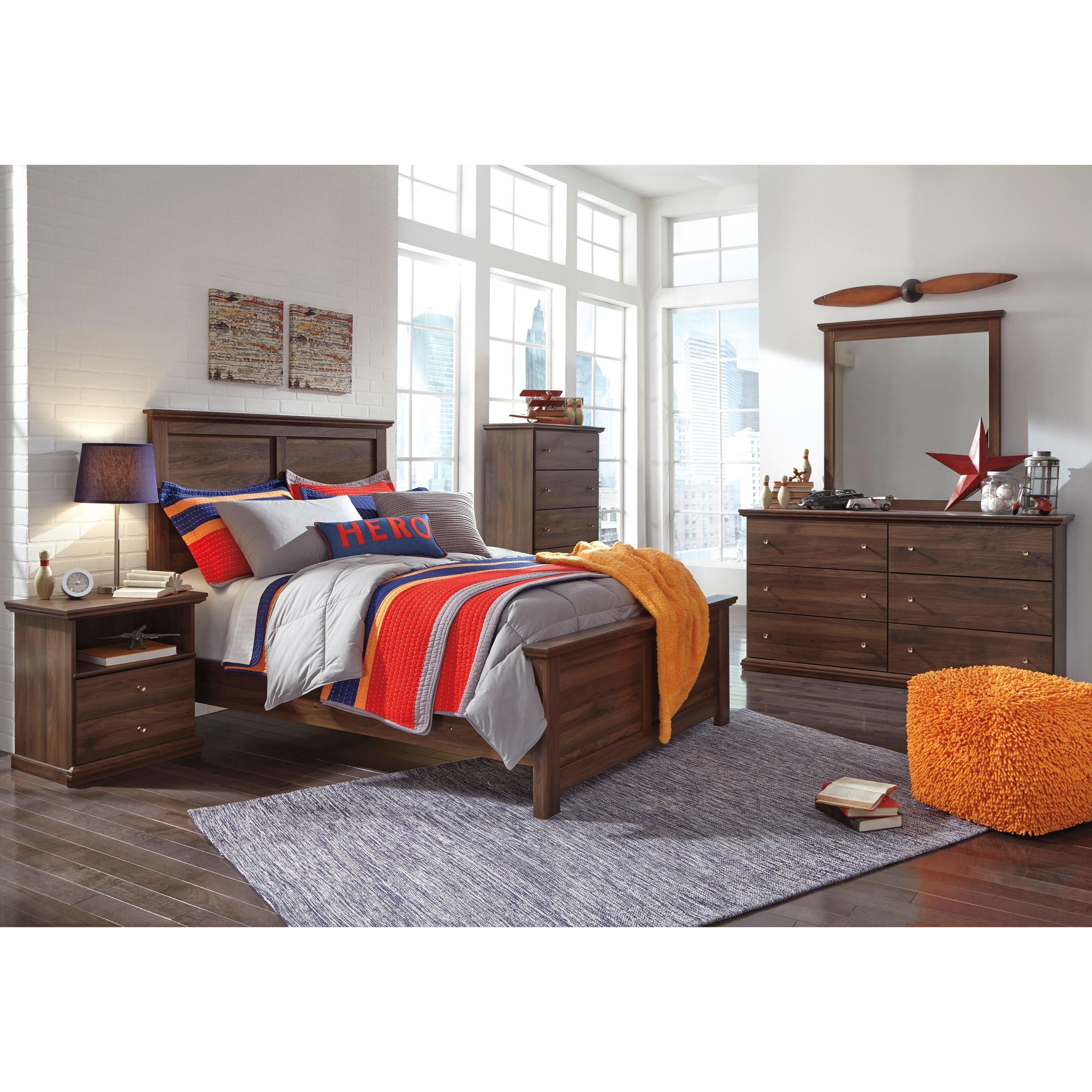 Signature Design by Ashley Burminson Full Bedroom Group - Item Number: B135 F Bedroom Group 1
