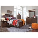 Signature Design by Ashley Burminson Full Bedroom Group - Item Number: B135 F Bedroom Group 1