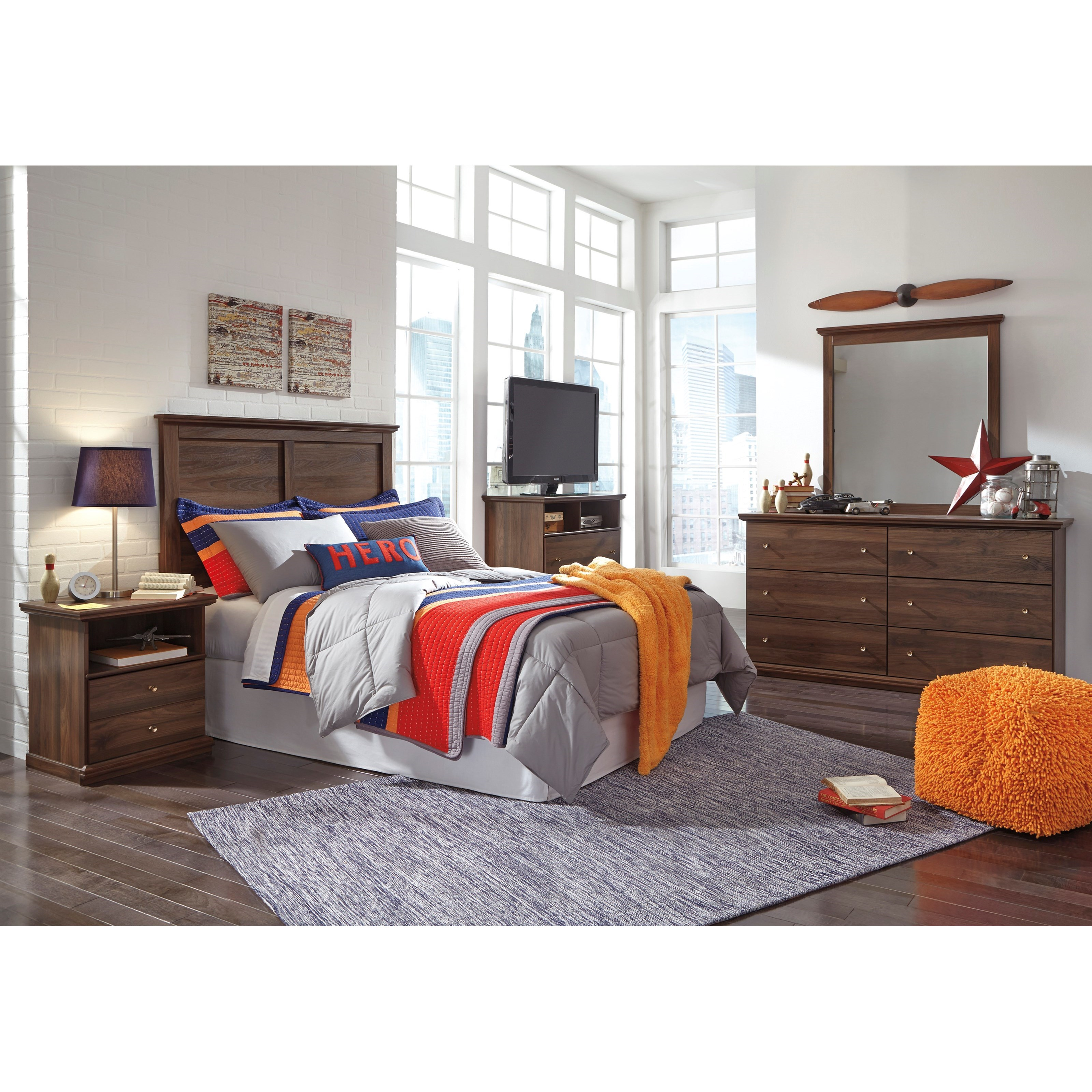 Signature Design by Ashley Burminson Full Bedroom Group - Item Number: B135 F Bedroom Group 3