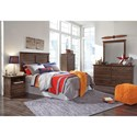 Signature Design by Ashley Burminson Full Bedroom Group - Item Number: B135 F Bedroom Group 4