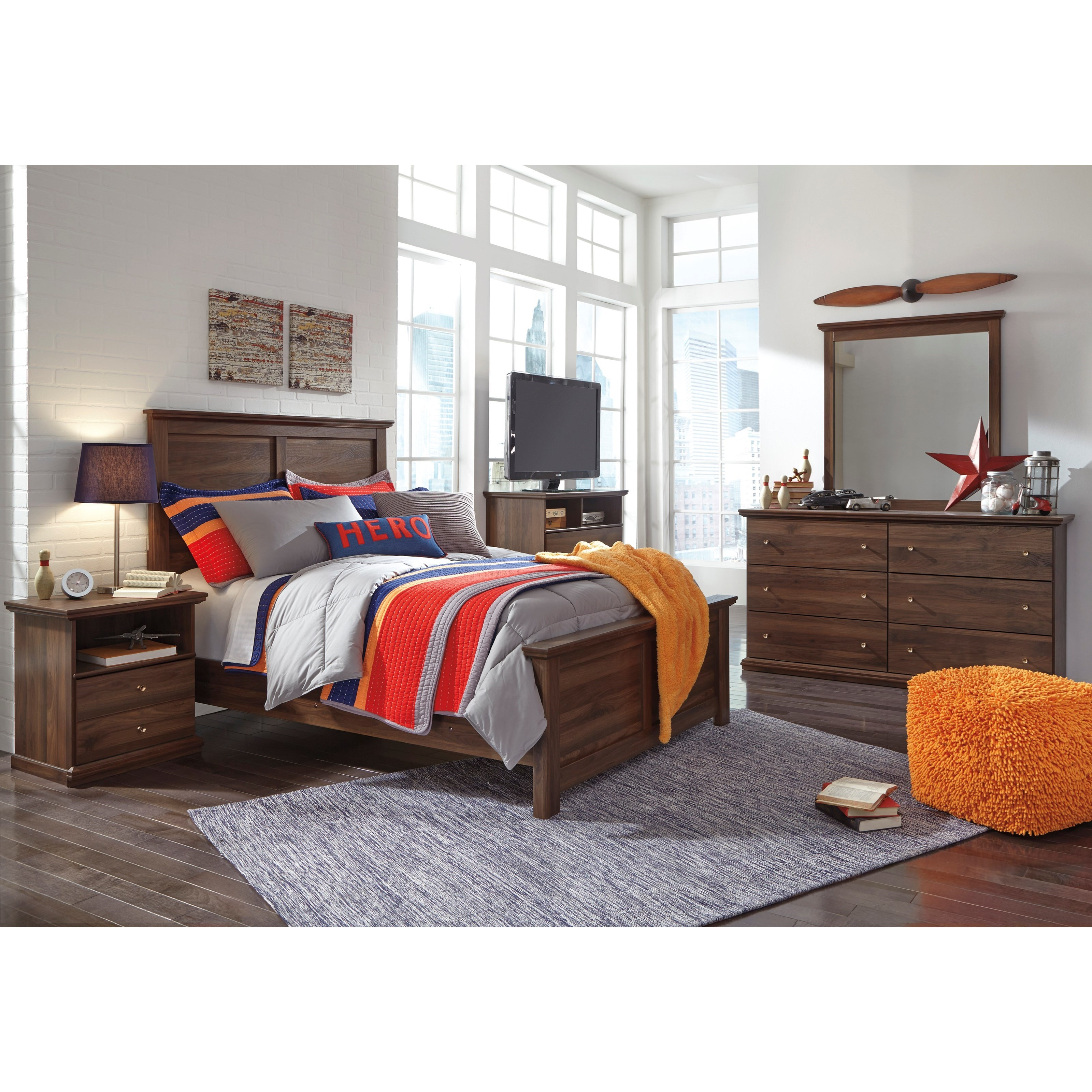 Signature Design by Ashley Burminson Full Bedroom Group - Item Number: B135 F Bedroom Group 5