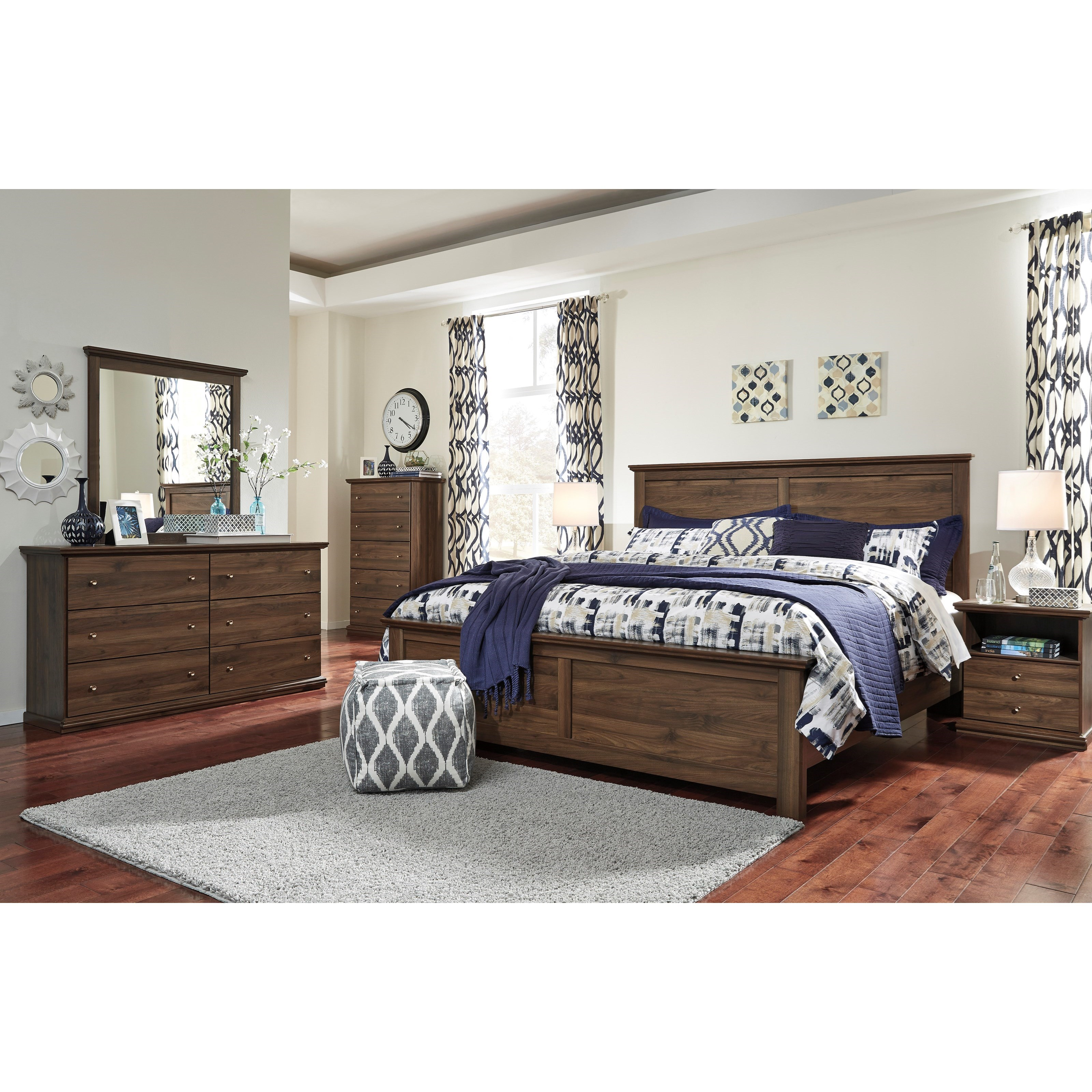 Signature Design by Ashley Burminson King Bedroom Group - Item Number: B135 K Bedroom Group 1