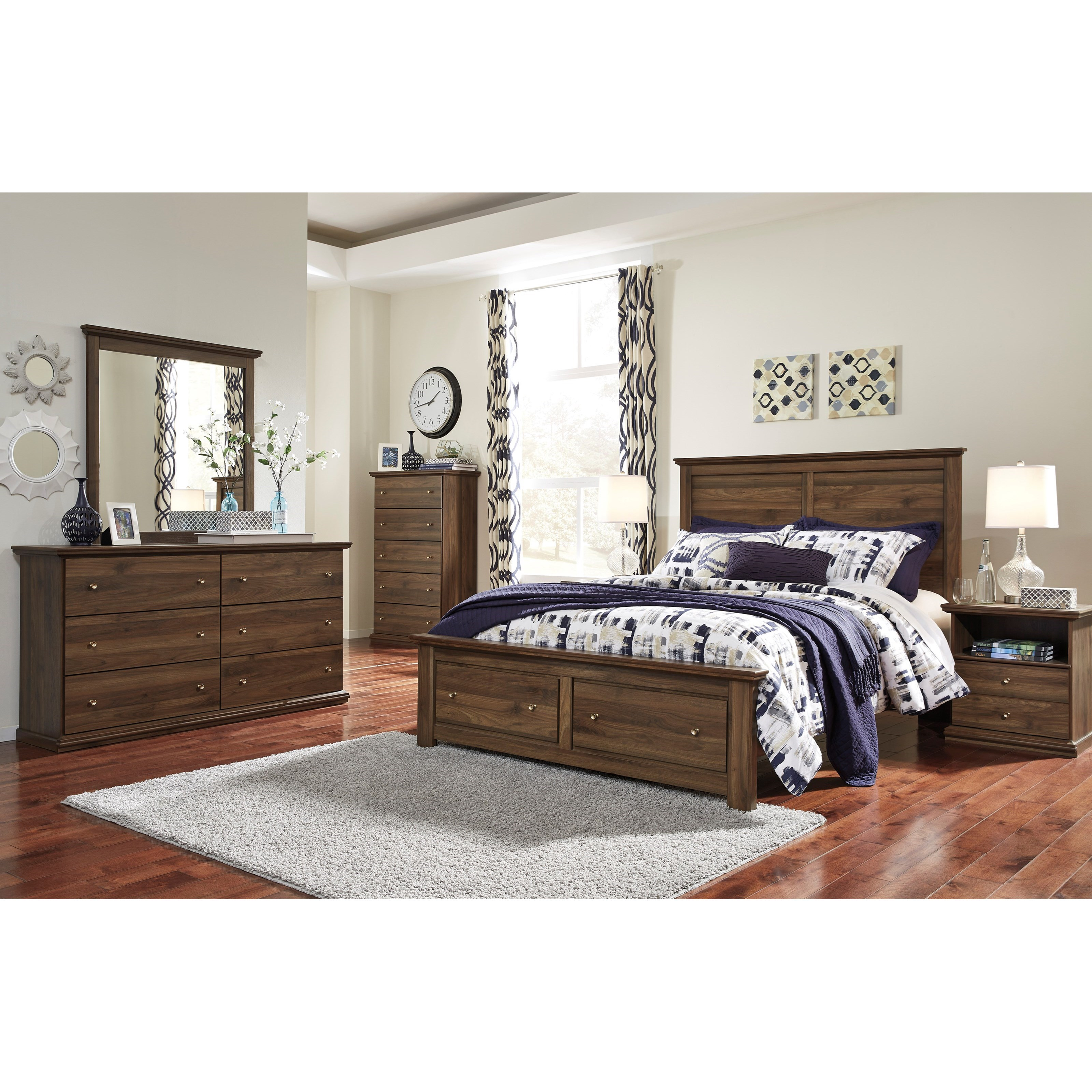 Signature Design by Ashley Burminson Queen Bedroom Group - Item Number: B135 Q Bedroom Group 2