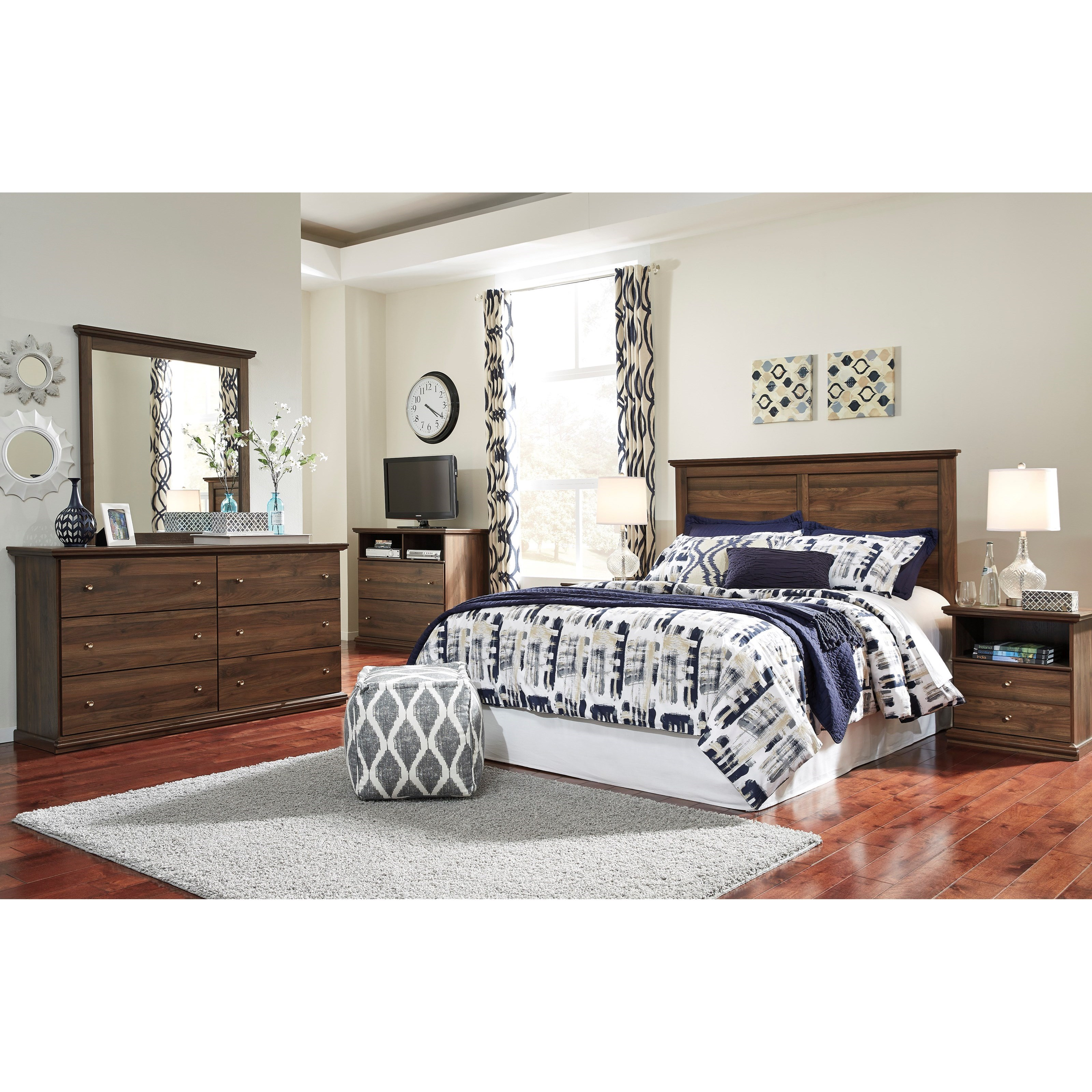 Signature Design by Ashley Burminson Queen Bedroom Group - Item Number: B135 Q Bedroom Group 3