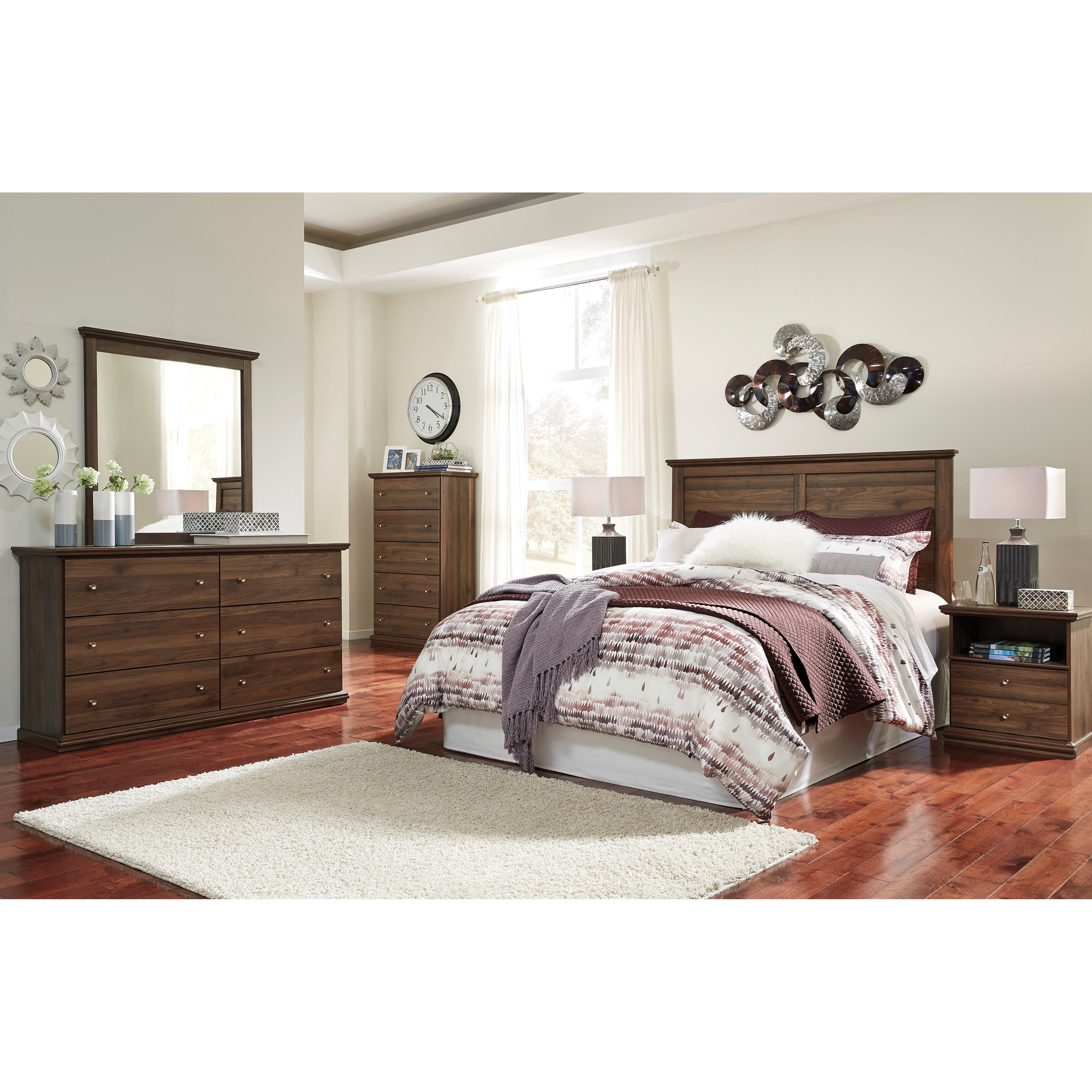 Signature Design by Ashley Burminson Queen Bedroom Group - Item Number: B135 Q Bedroom Group 4