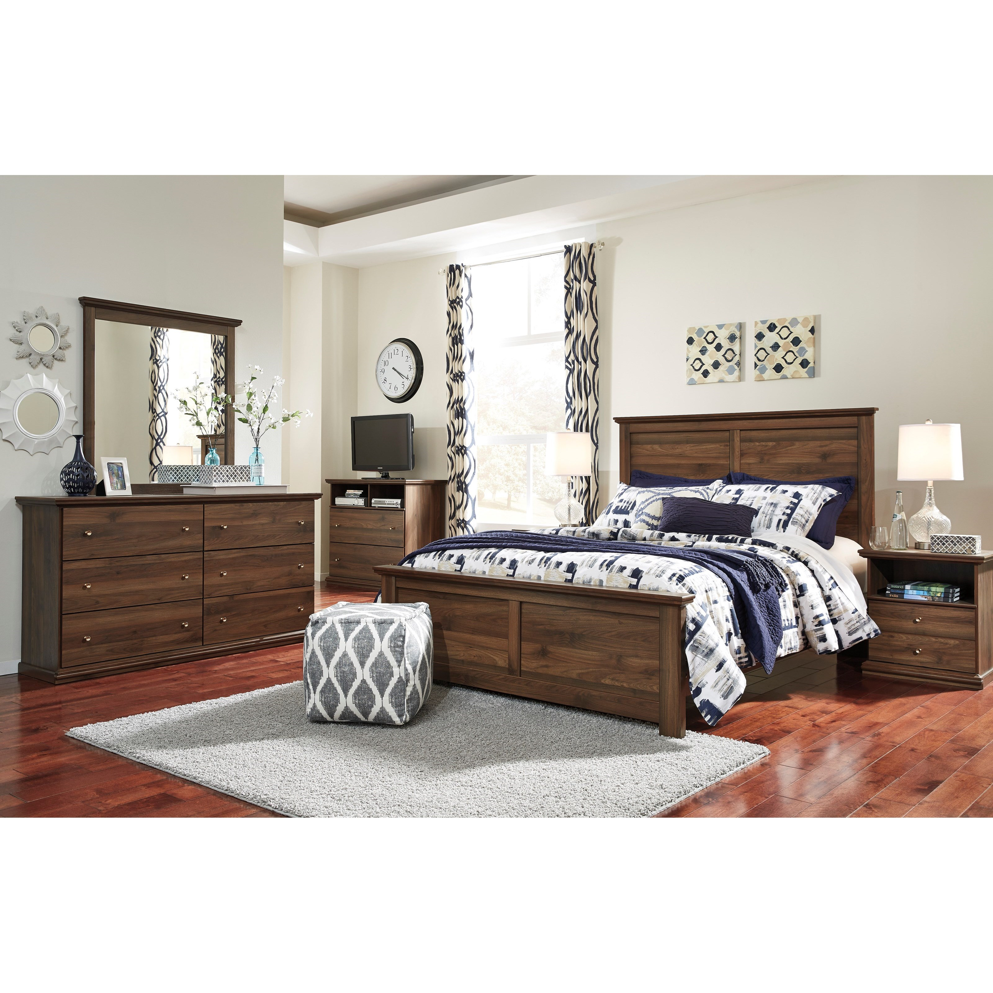 Signature Design by Ashley Burminson Queen Bedroom Group - Item Number: B135 Q Bedroom Group 5