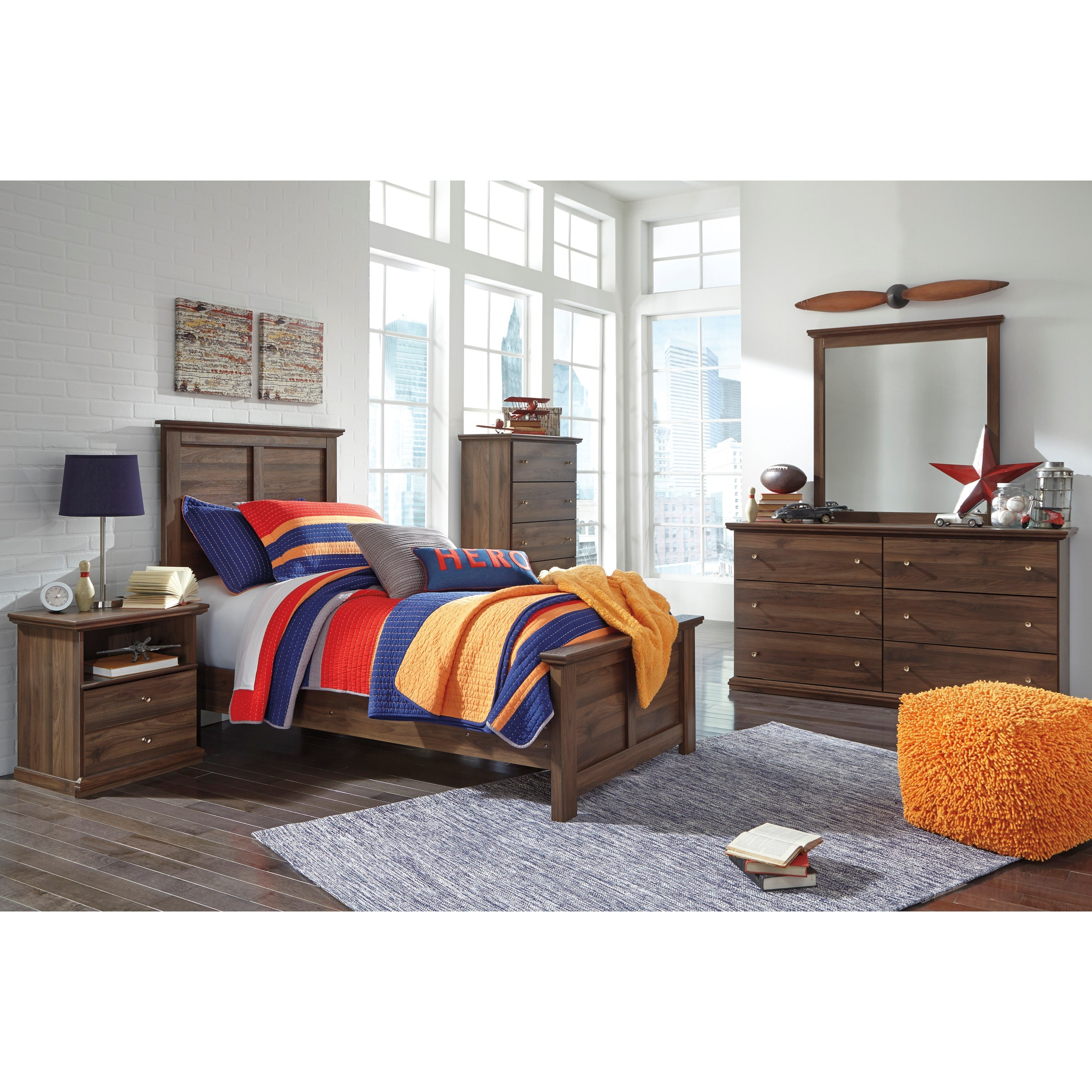 Signature Design by Ashley Burminson Twin Bedroom Group - Item Number: B135 T Bedroom Group 1