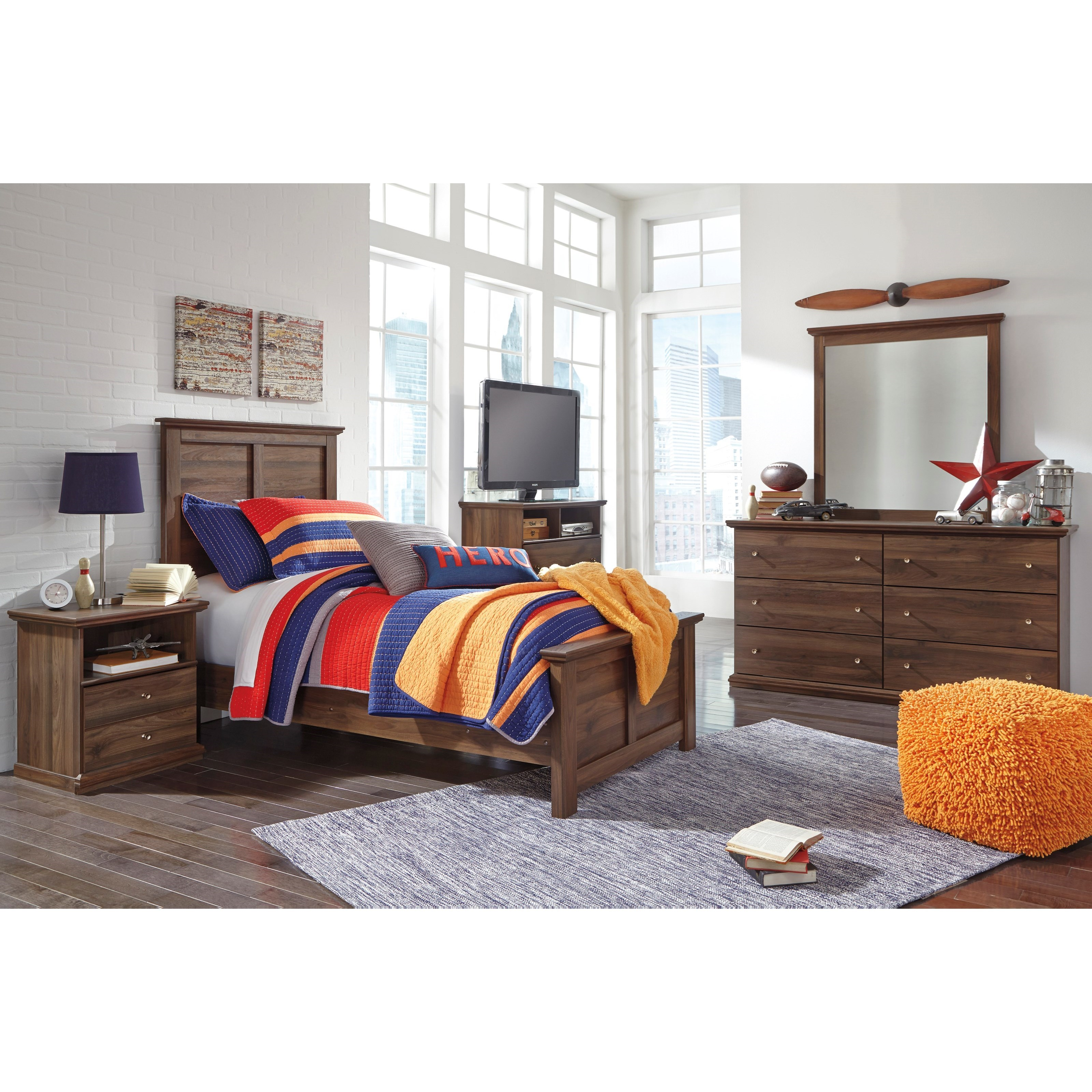 Signature Design by Ashley Burminson Twin Bedroom Group - Item Number: B135 T Bedroom Group 5