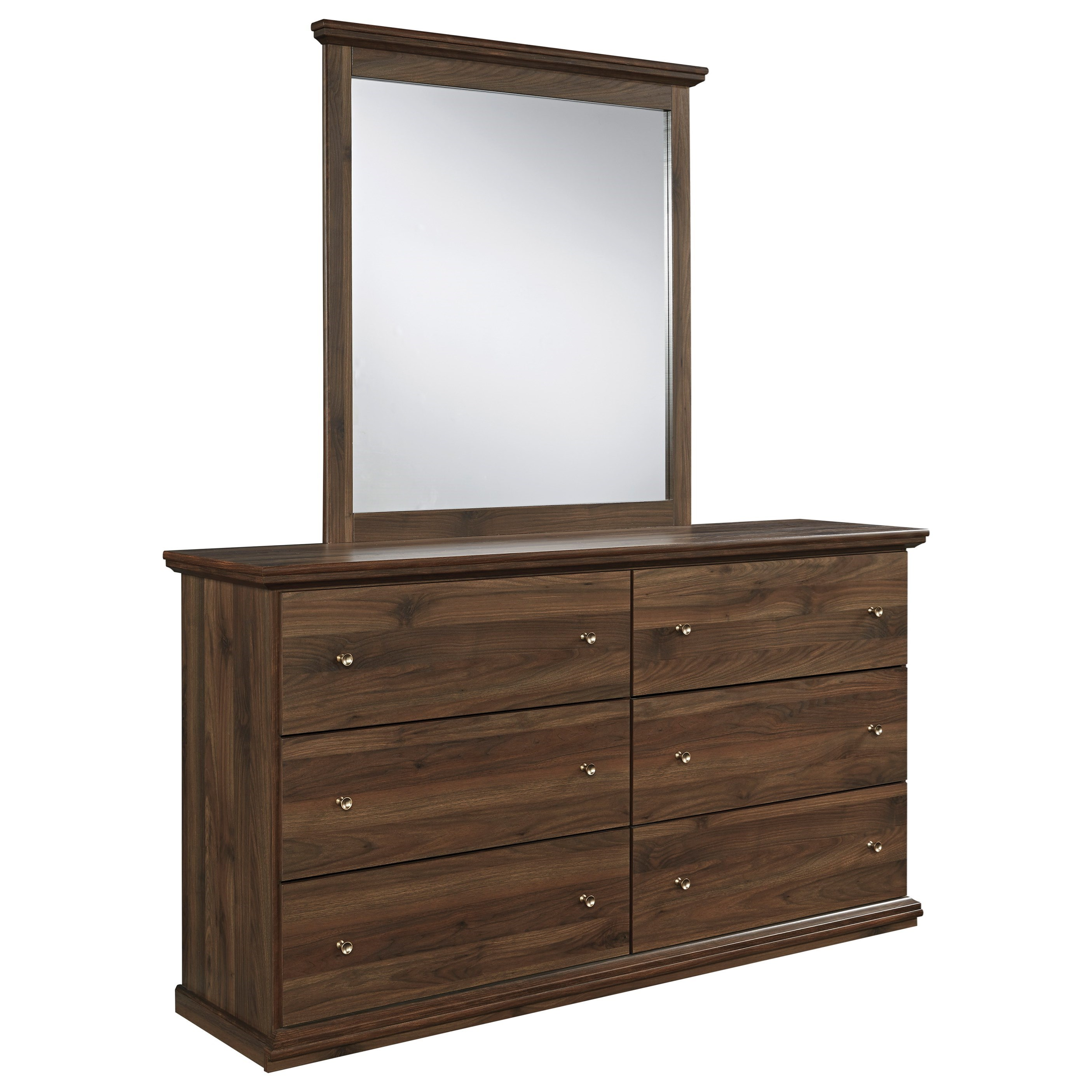 Signature Design by Ashley Burminson Dresser & Mirror - Item Number: B135-31+36