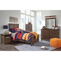 Signature Design by Ashley Burminson Twin Panel Bed with Simple Moulding