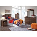 Signature Design by Ashley Burminson Twin Casual Panel Headboard with Moulding