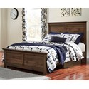 Signature Design by Ashley Burminson Queen Panel Bed - Item Number: B135-57+54+96