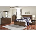 Signature Design by Ashley Burminson Queen Panel Bed with Simple Moulding - Bed Shown May Not Represent Size Indicated