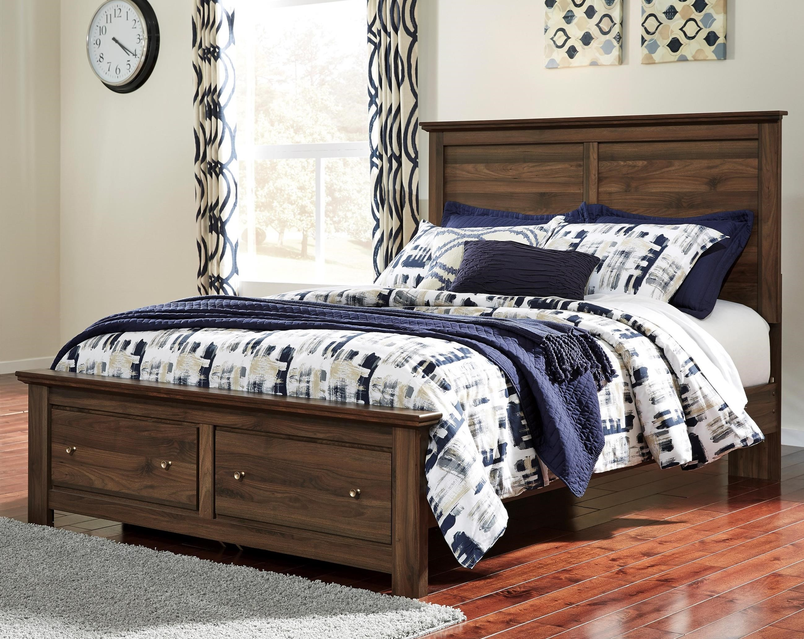 Signature Design by Ashley Burminson Queen Storage Bed - Item Number: B135-57+54S+95+B100-13