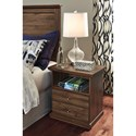 Signature Design by Ashley Burminson Casual One Drawer Nightstand with Shelf