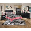 Signature Design by Ashley Maribel Full Casual Cottage Headboard - Shown with Night Stand, Media Chest, Dresser, and Mirror