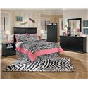 Signature Design by Ashley Maribel Full Casual Cottage Headboard - Shown with Night Stand, Chest, Dresser, and Mirror