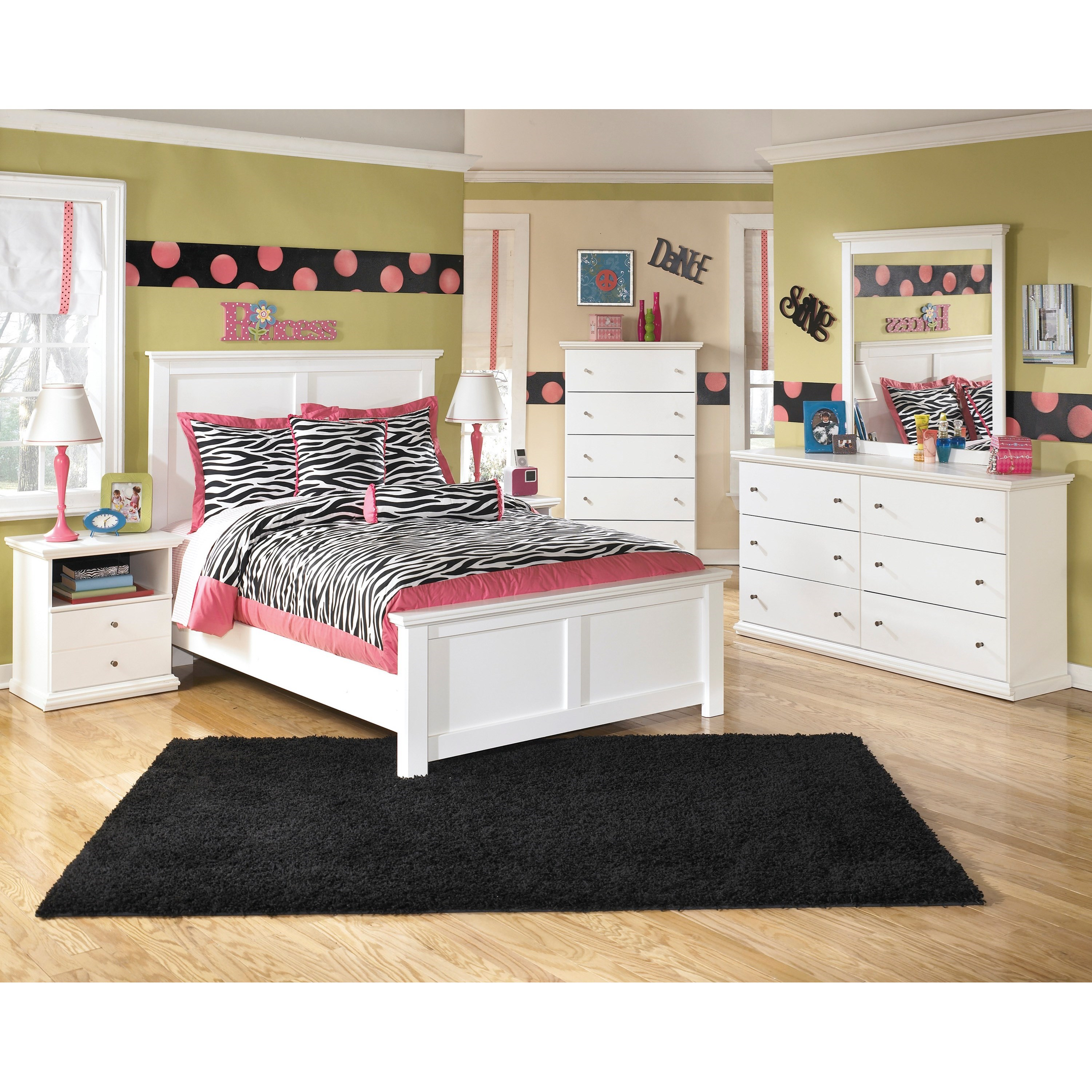 Signature design by ashley bostwick shoals full bedroom - Ashley furniture full bedroom sets ...