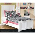 Signature Design by Ashley Bostwick Shoals Twin Panel Bed with Simple Moulding