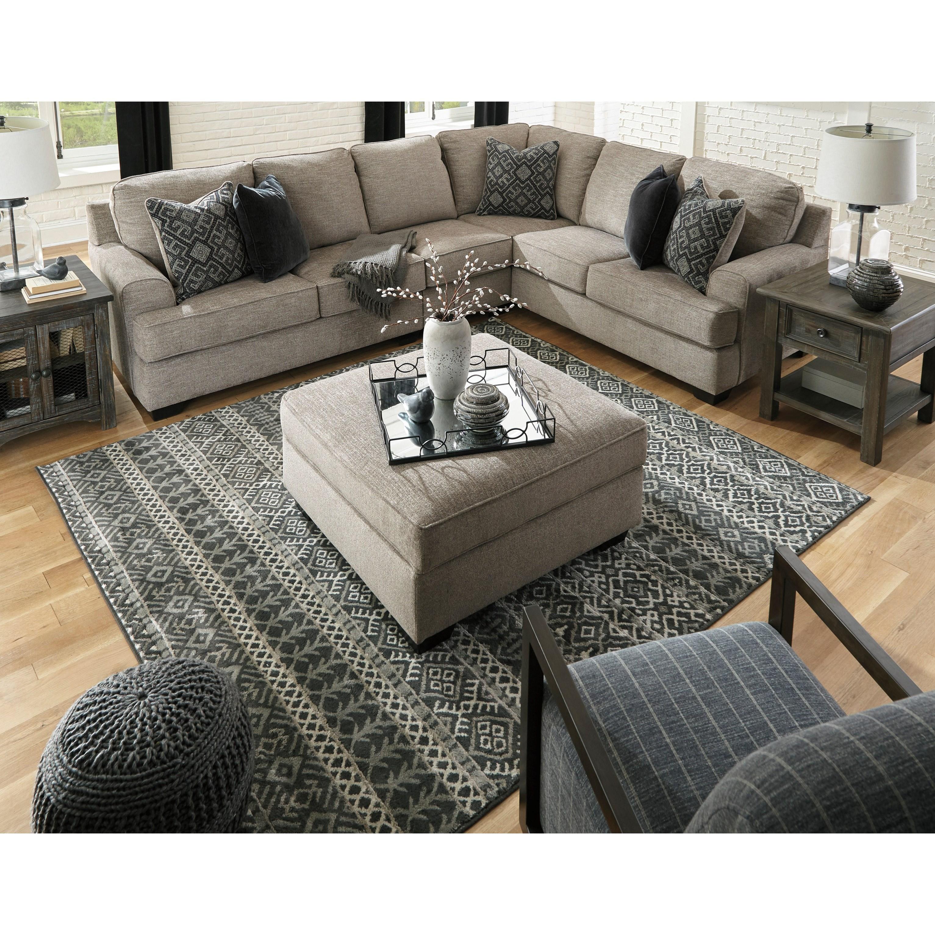 Ashley Furniture Signature: Ashley Signature Design Bovarian Storage Ottoman