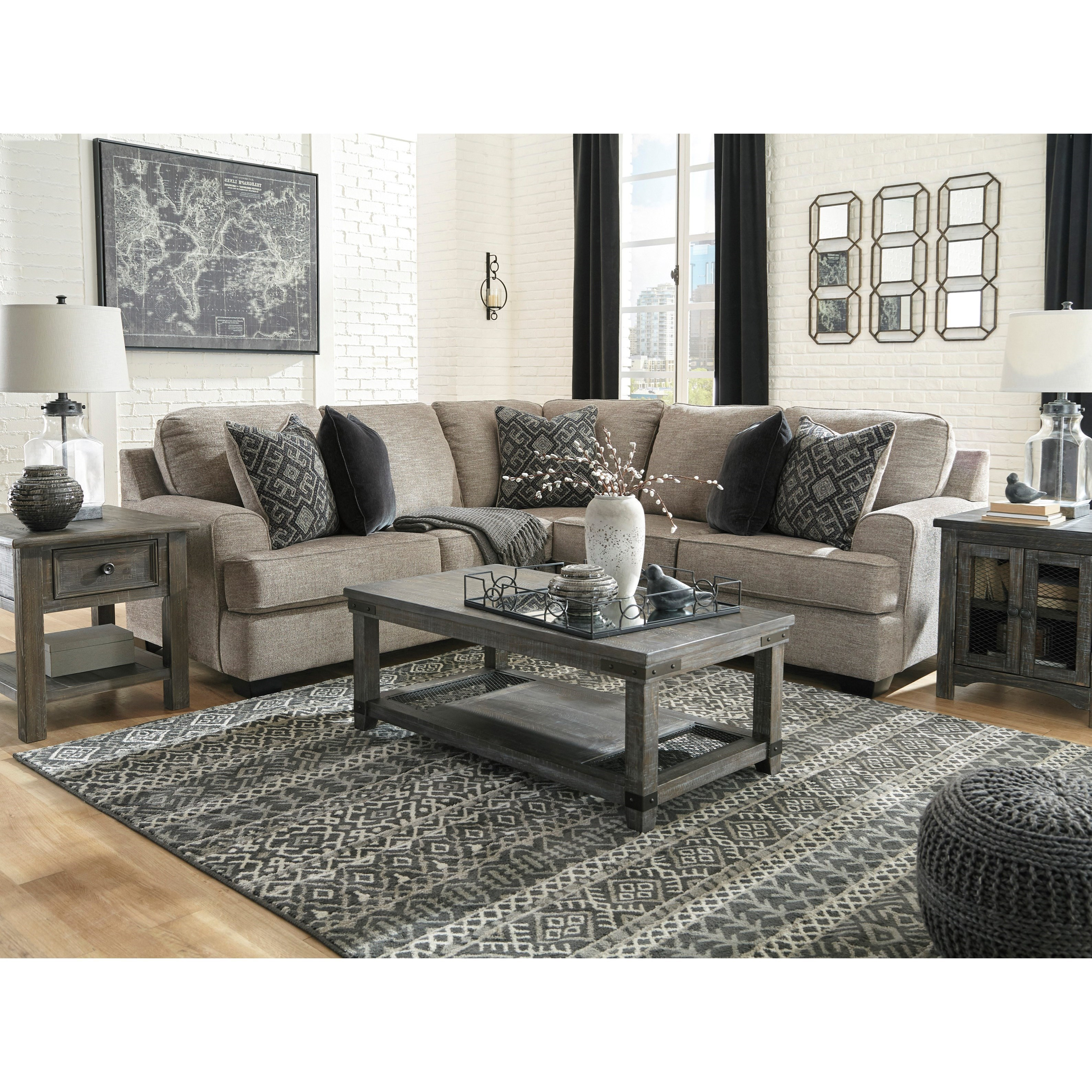 Signature Home Furnishings: Signature Design By Ashley Bovarian 2-Piece Sectional With