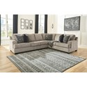 Signature Design by Ashley Bovarian Three Piece Sectional - Item Number: 5610355+46+49