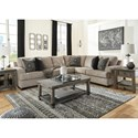 Signature Design by Ashley Bovarian 3-Piece Sectional with Track Arms