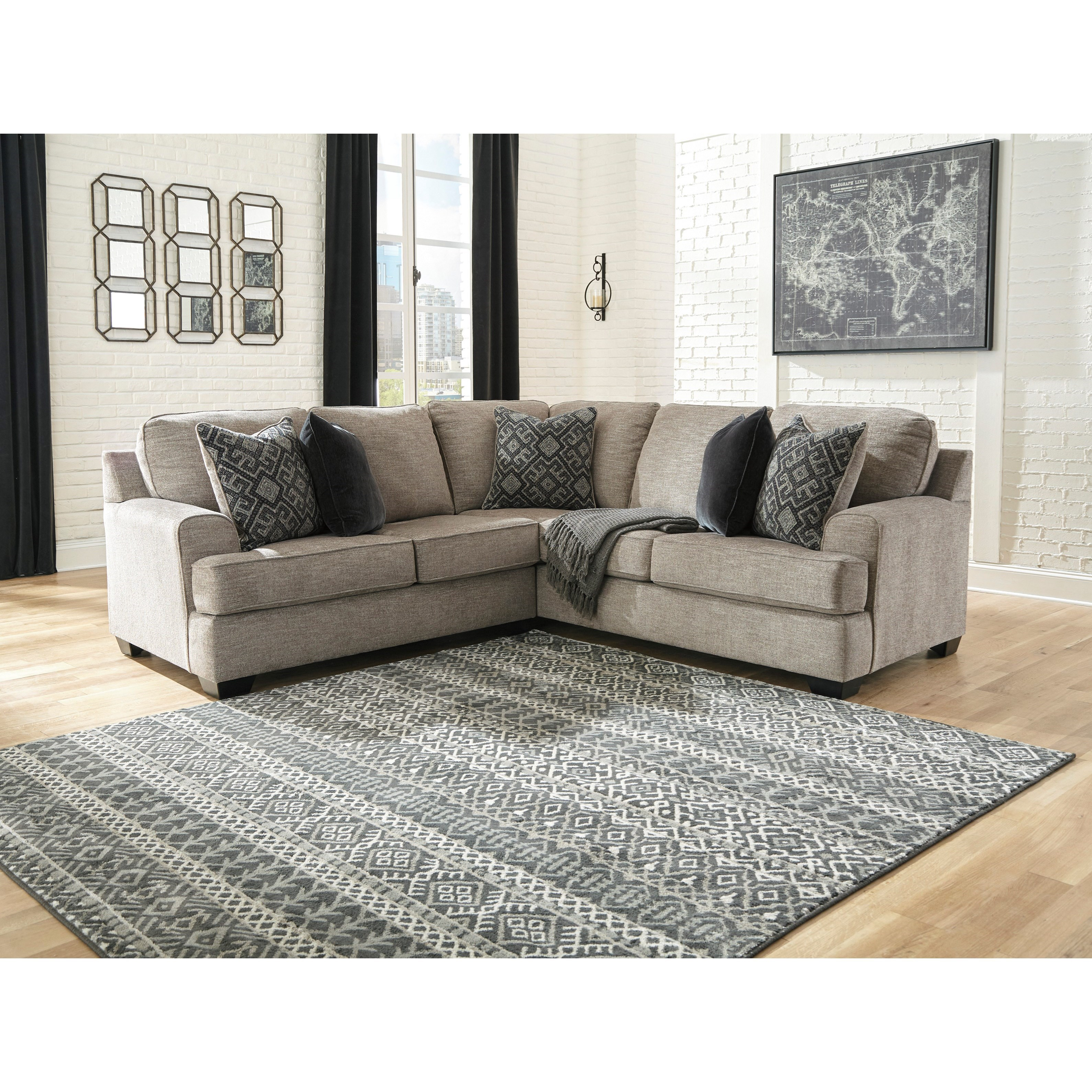 Bovarian 2-Piece Sectional by Signature Design by Ashley at HomeWorld Furniture