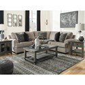 Signature Design by Ashley Bovarian 2-Piece Sectional with Track Arms