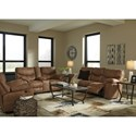 Signature Design by Ashley Boxberg Reclining Living Room Group - Item Number: 33802 Living Room Group 3
