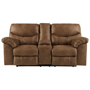 Signature Design by Ashley Boxberg Double Reclining Loveseat with Console