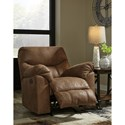 Signature Design by Ashley Boxberg Casual Power Rocker Recliner with Pillow Arms