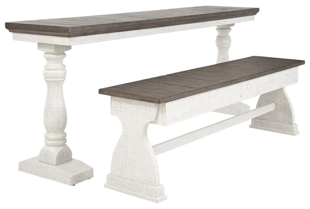 2 PC Rectangular table and Bench Set