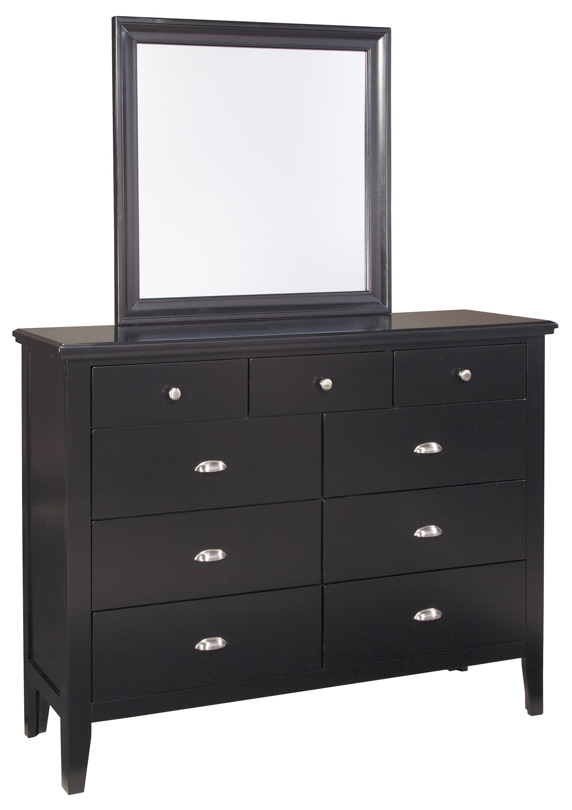 Signature Design by Ashley Braflin Dresser & Bedroom Mirror - Item Number: B591-31+36