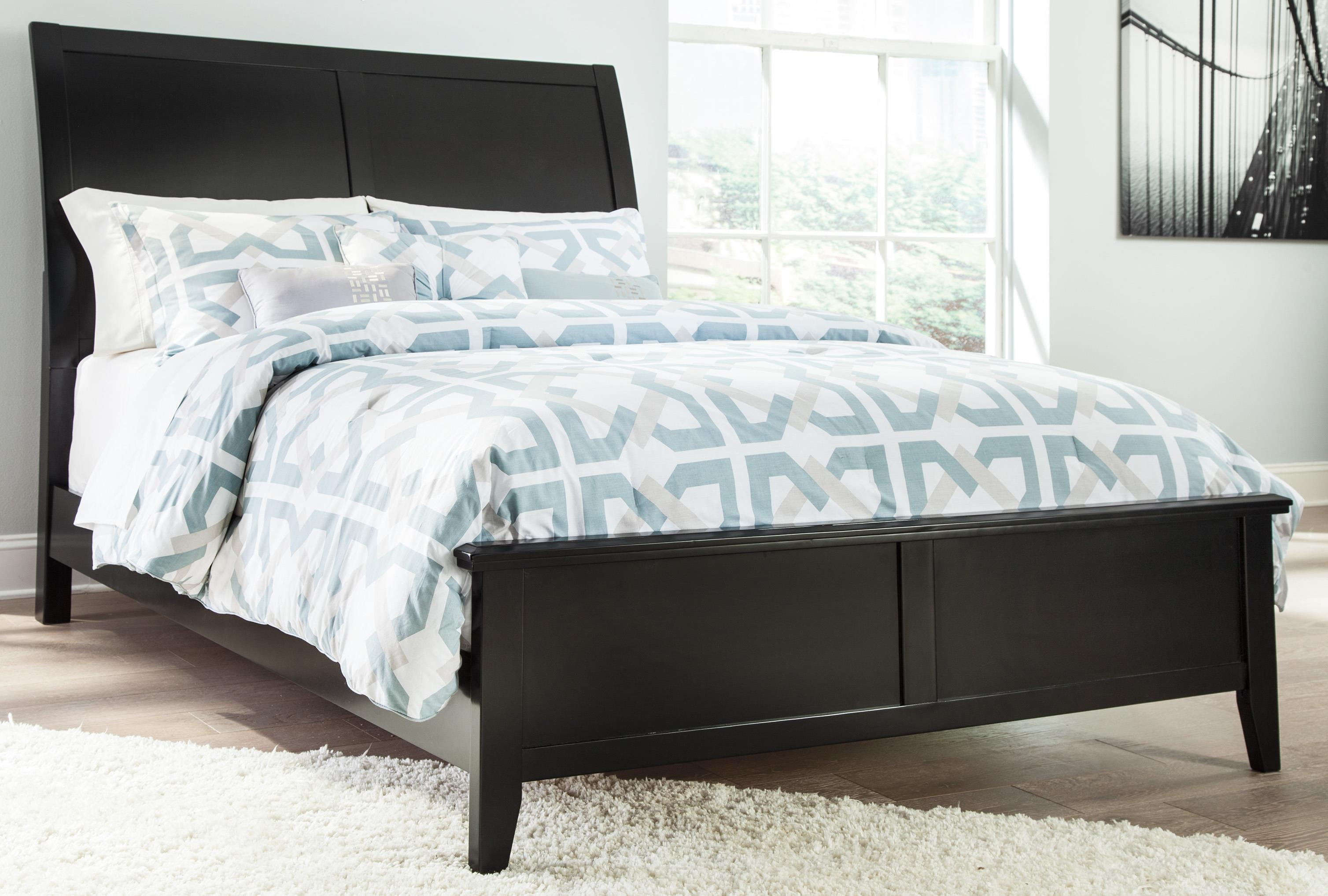 Signature Design by Ashley Braflin Cal King Bed with Sleigh Headboard - Item Number: B591-58+94