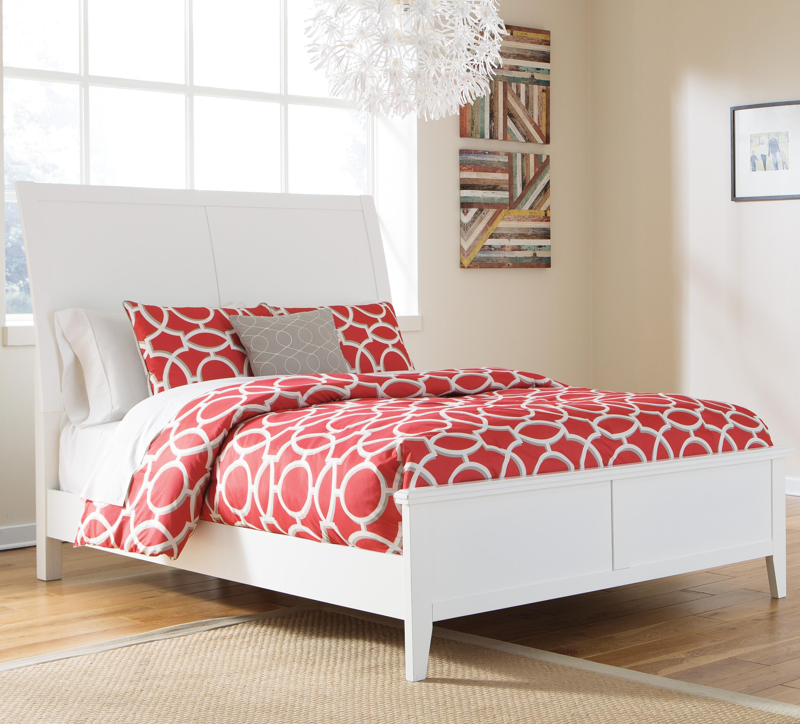 Signature Design by Ashley Langlor Queen Bed with Sleigh Headboard - Item Number: B592-57+54
