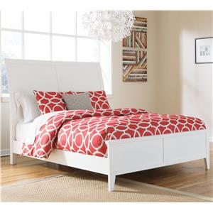 Signature Design by Ashley Langlor Queen Bed with Sleigh Headboard