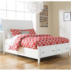 Signature Design by Ashley Langlor Queen Storage Bed with Sleigh Headboard