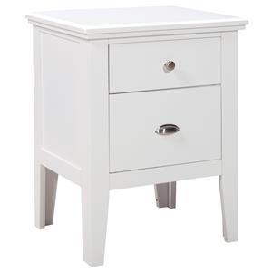 Signature Design by Ashley Langlor Two Drawer Night Stand