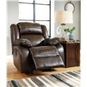 Signature Design by Ashley Branton Leather Match Power Rocker Recliner
