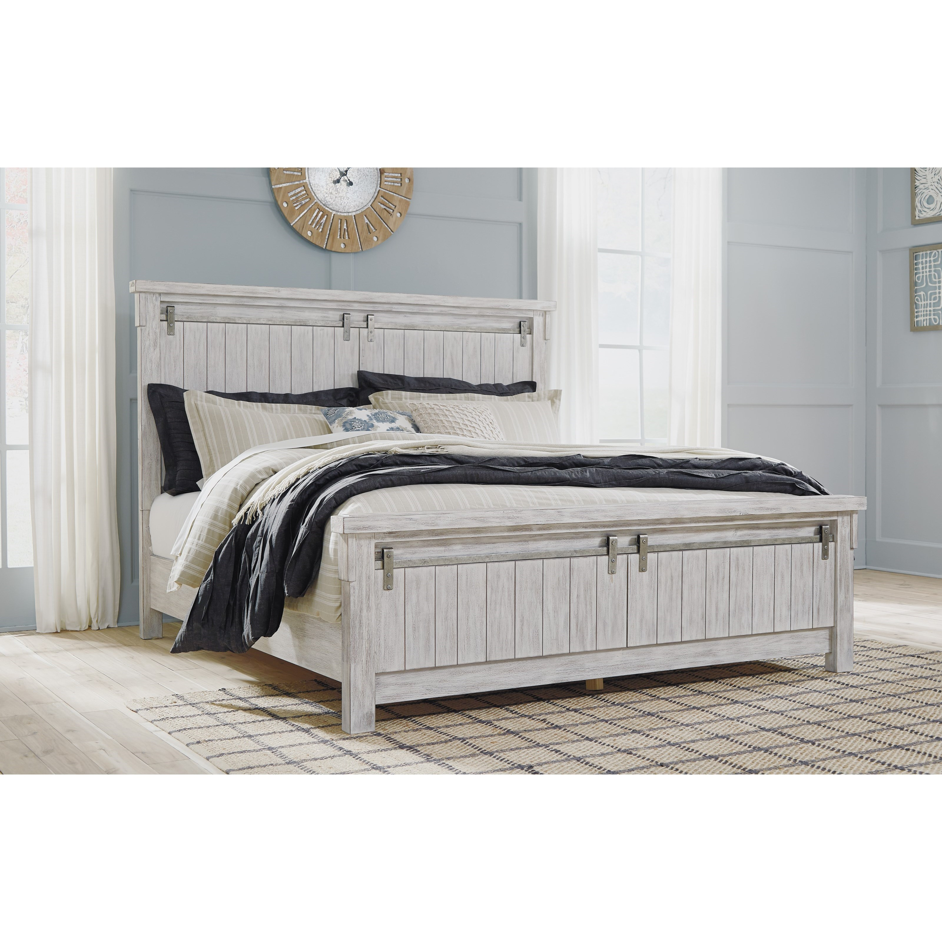 Signature Design by Ashley Brashland Queen Panel Bed - Item Number: B740-57+96+54